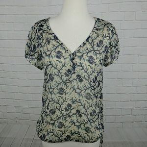 Lucky Brand | Floral Sheer Top